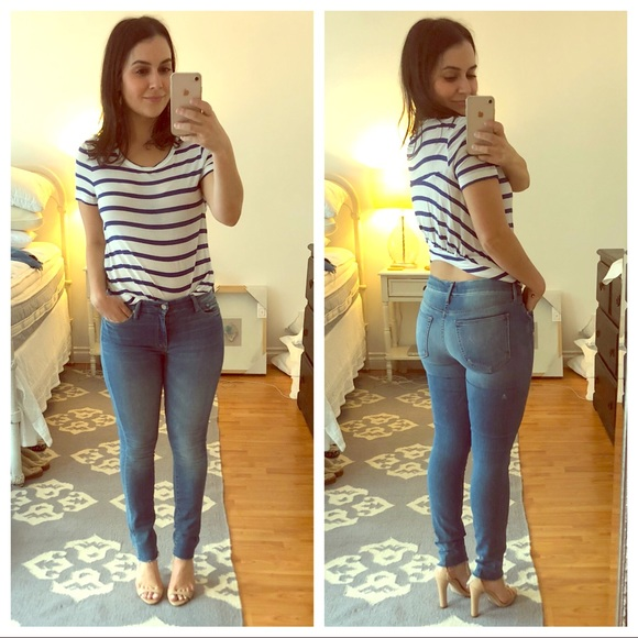 888ccc984e1a MOTHER Jeans | Looker Ankle Fray Skinny Worn Once | Poshmark